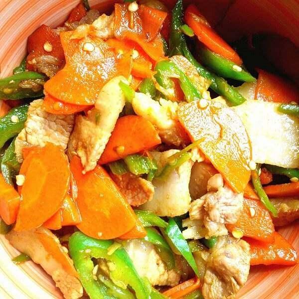 豆瓣炒萝卜