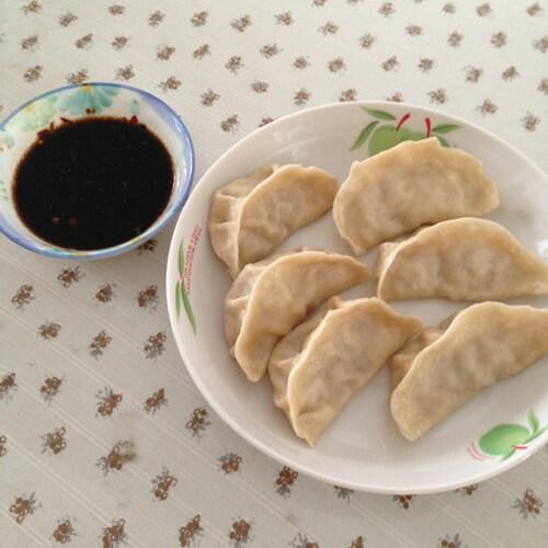 泡菜牛肉蒸饺