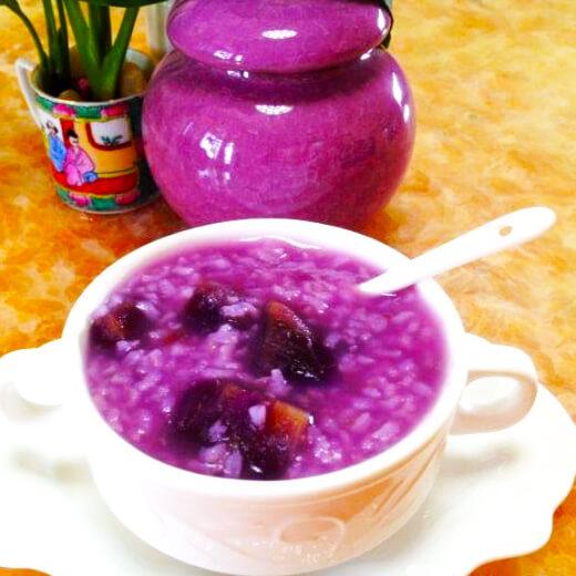 养生陈皮紫薯粥