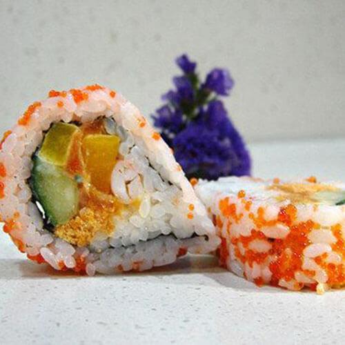 美味鲜虾肉松寿司