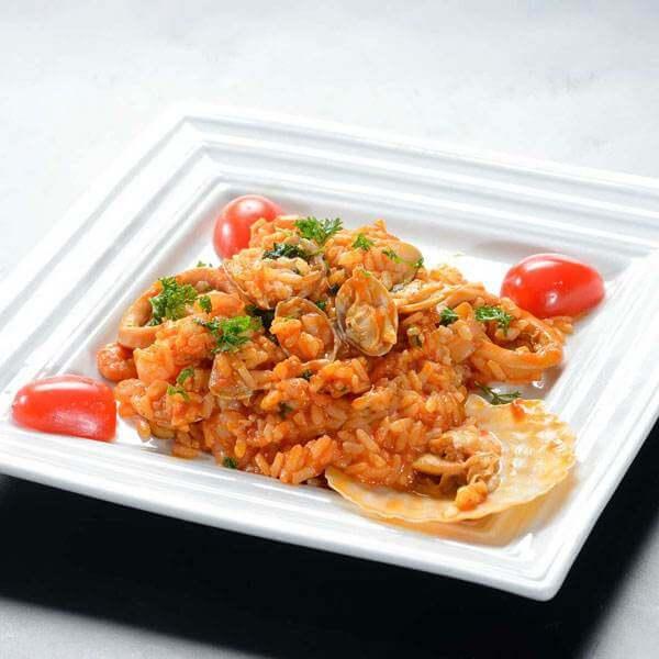 美味的海鲜锅巴