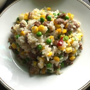 牛肉丁扁豆饭