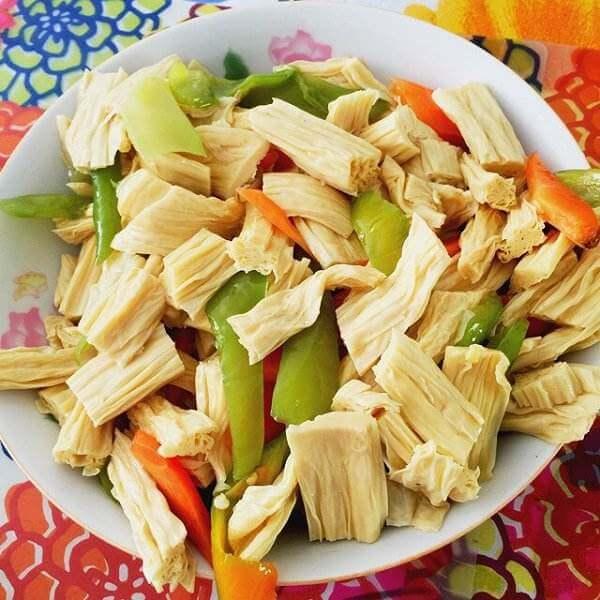 葫芦瓜炒腐竹