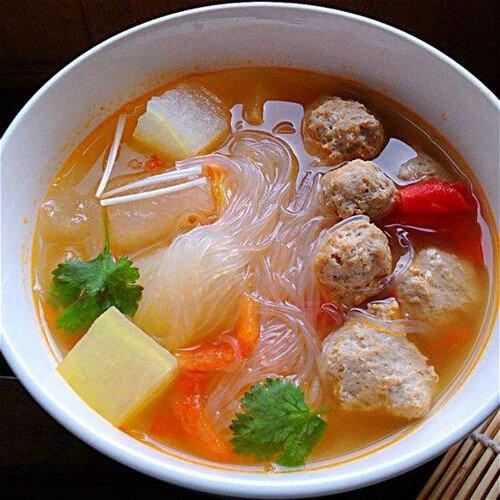冬瓜青菜粉丝汤