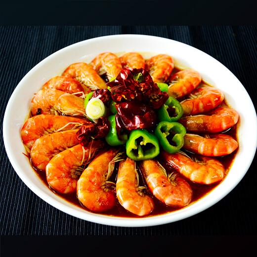 美味的茄汁东方虾