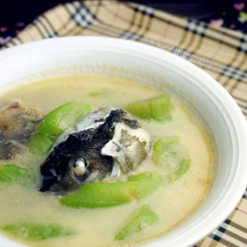 丝瓜银鱼汤