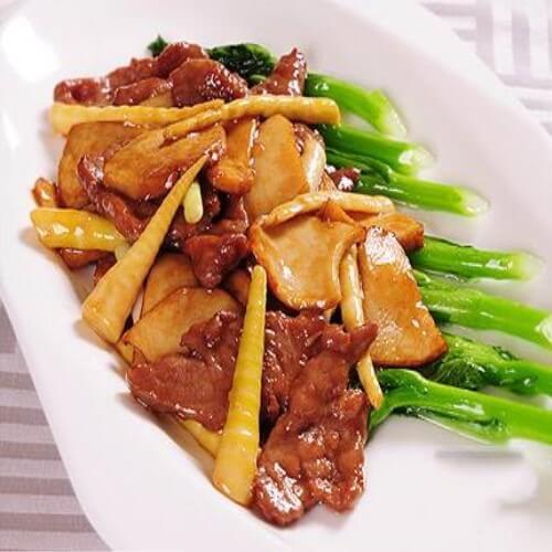 双笋炒牛肉