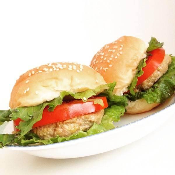 姜末猪肉汉堡
