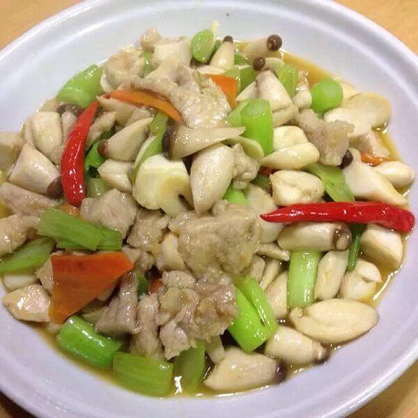 蘑菇炒虾仁