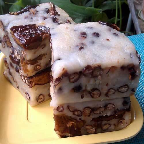 香甜的松子血糯米糕