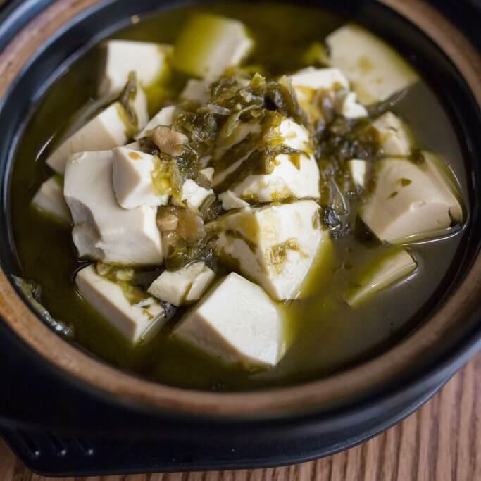 雪里蕻炖冻豆腐