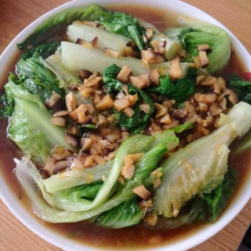 蚝油香菇扒生菜