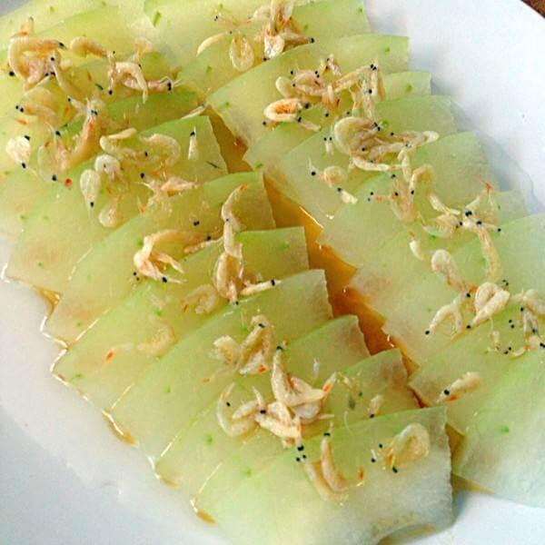 香菇虾皮蒸冬瓜
