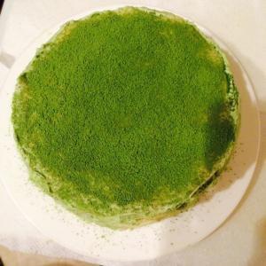 清新的抹茶蛋糕