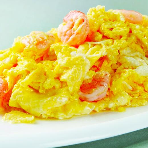 美味的虾仁蛋炒