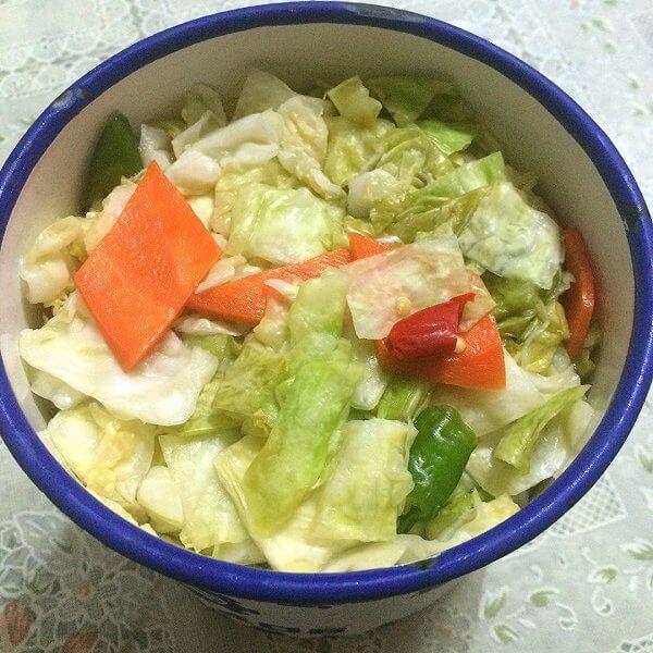 开胃的酸辣泡菜