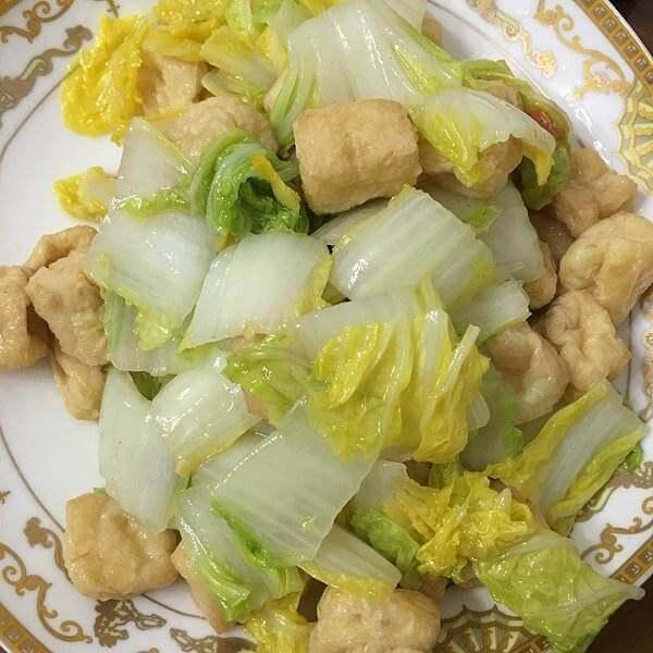 白菜辣炒豆卷