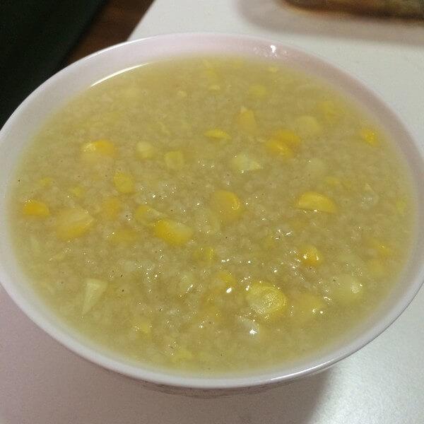玉米菠萝粥