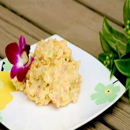 美味的土豆泥蒸虾