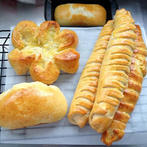 松软的杂果面包