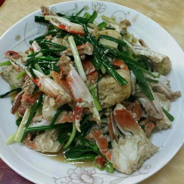 美味葱姜炒螃蟹