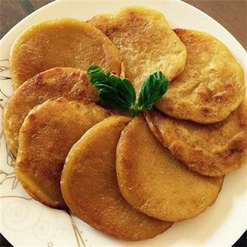红薯粒煎饼