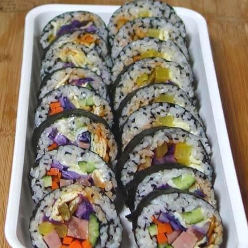 紫甘兰时蔬寿司