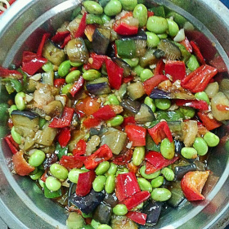 红薯叶辣椒茄子