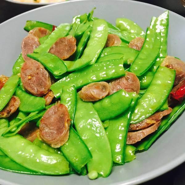 蟹肉炒荷兰豆