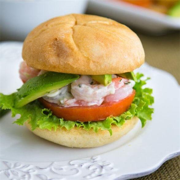 爱美食-北极虾汉堡包