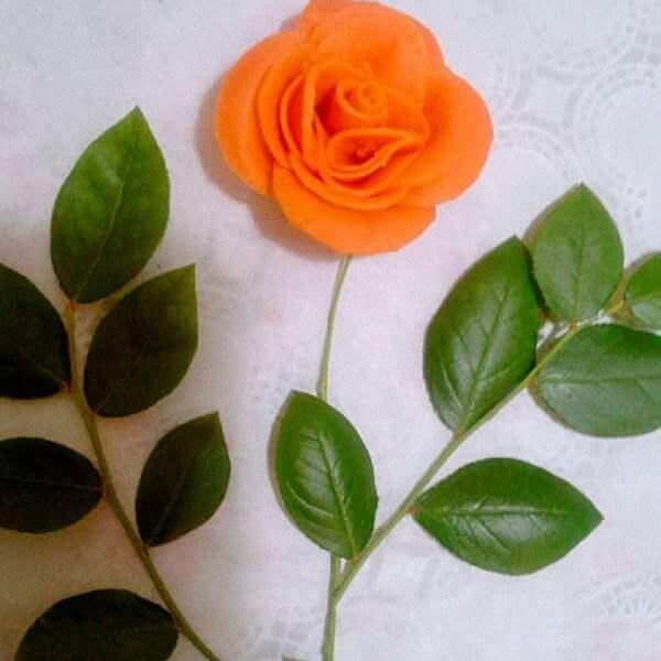 简易版胡萝卜玫瑰花