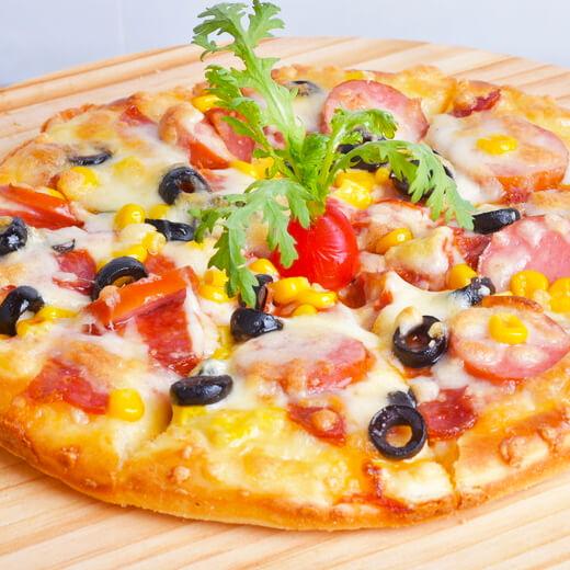 爆浆蓝莓菠萝披萨