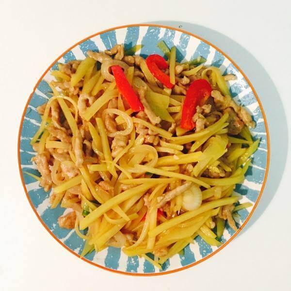 香芹肉丝土豆