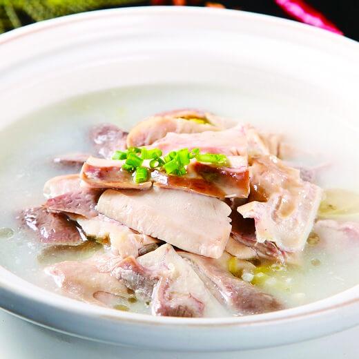 简单版泡菜猪肚丸汤