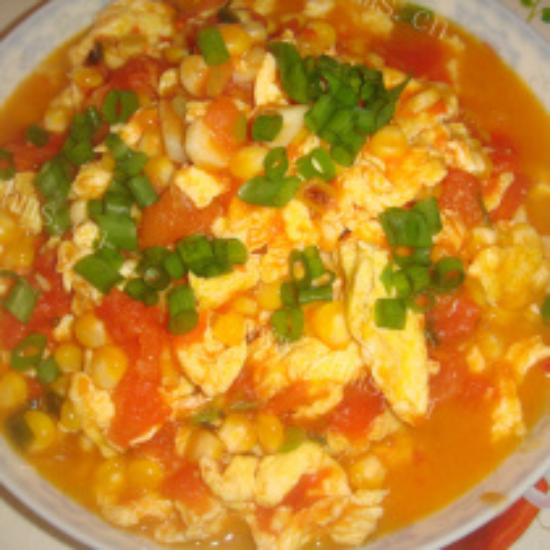 玉米番茄鸡蛋汤