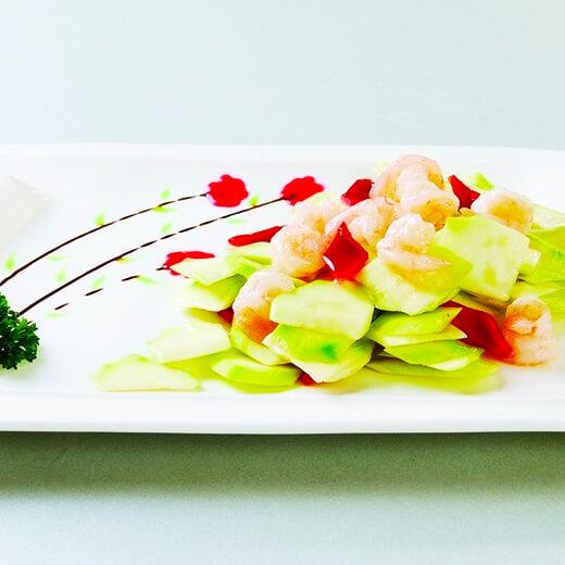 西葫芦虾仁炒鸡蛋