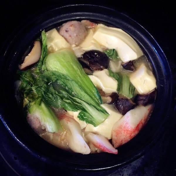 笼蒸海鲜豆腐