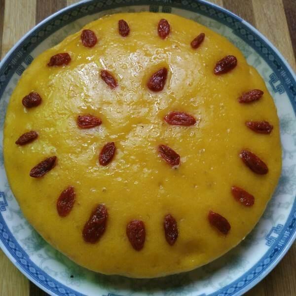 美味的南瓜提子发糕