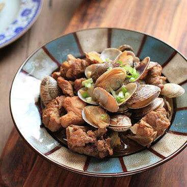 美味的蛤蜊肉烧