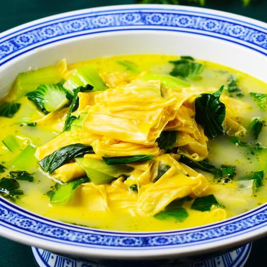 青菜炒豆腐皮