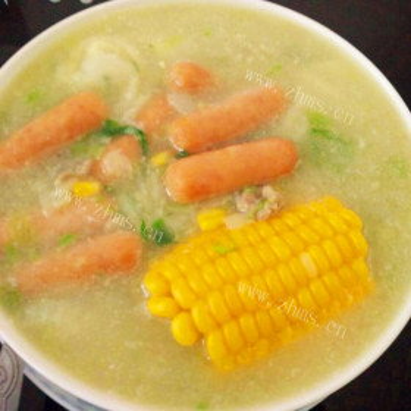 白菜玉米杂烩汤