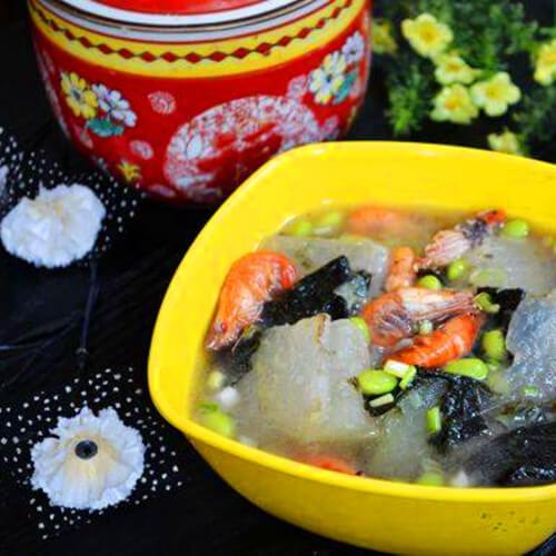 香喷喷的河虾紫菜冬瓜汤