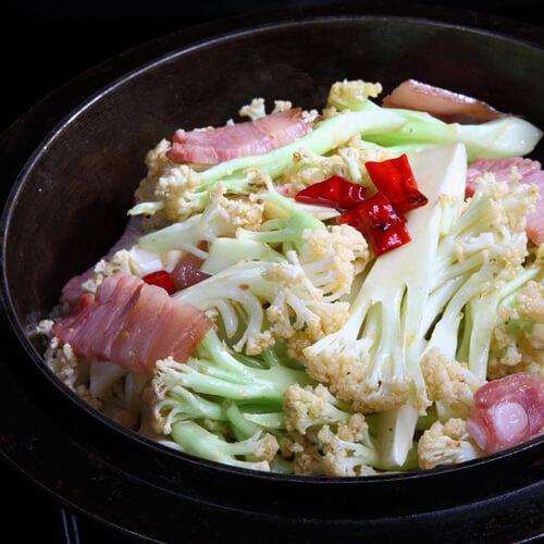 豆豉鲮鱼炒菜花