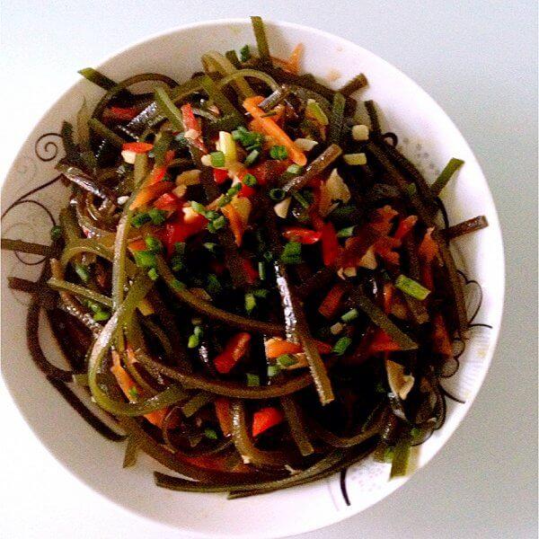 海带莴笋酱虾