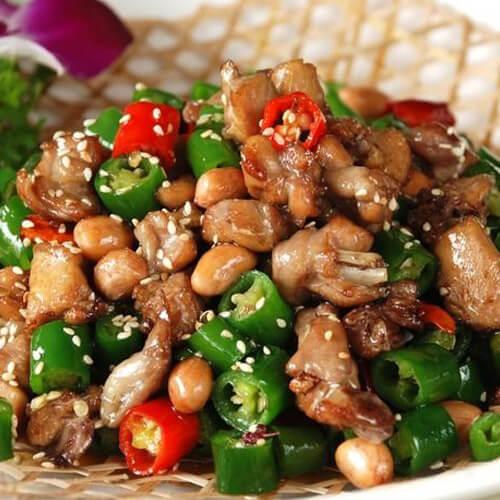 鲮鱼肉酿尖椒