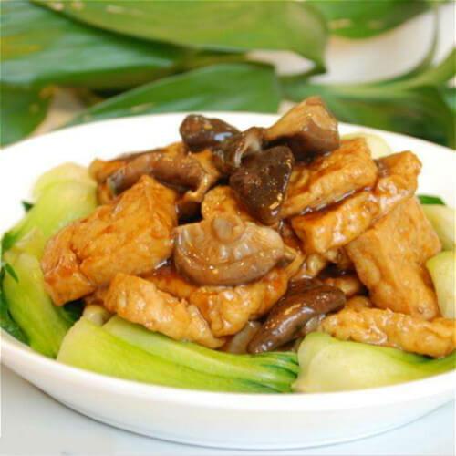 豆腐焖香菇