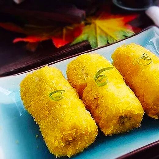 蛋酥香蕉卷