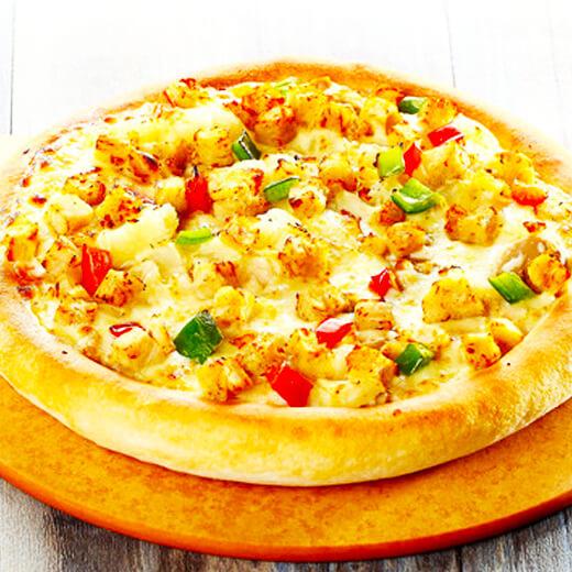 鸡肉肠杂蔬披萨