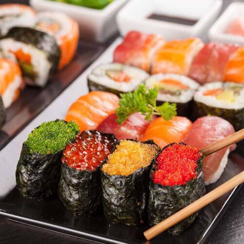 好吃的菜青虫寿司