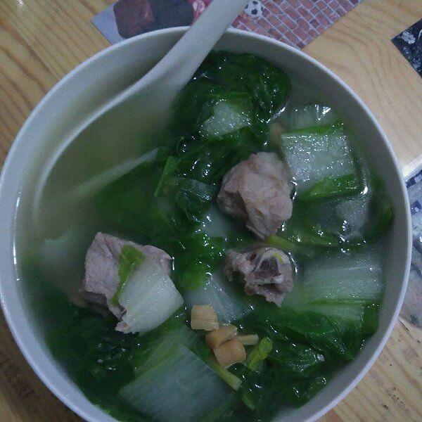骨头生煮茴香菜